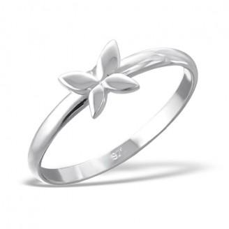 """Stříbrný prsten """"Motýlí pohlazení"""". Ag 925/1000"""